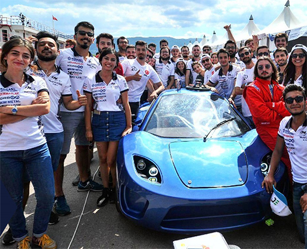 Kocaeli University Türk Mekatronik Team, of which Kordsa was the platinum sponsor and composite materials provider, obtained the first place in Design Category in Turkey.