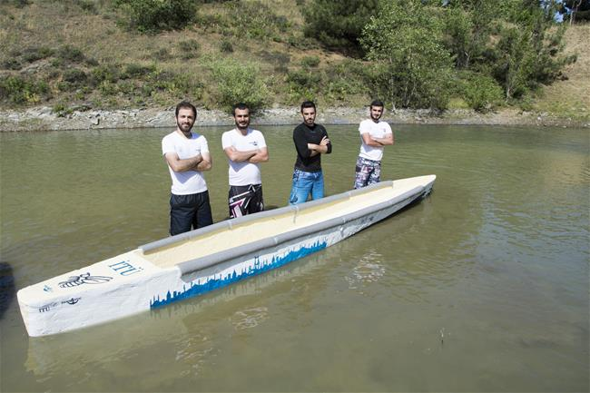 ITU Fantastic Four Team Reinforced by Kordsa Became the Champion of Concrete Canoe Competition!