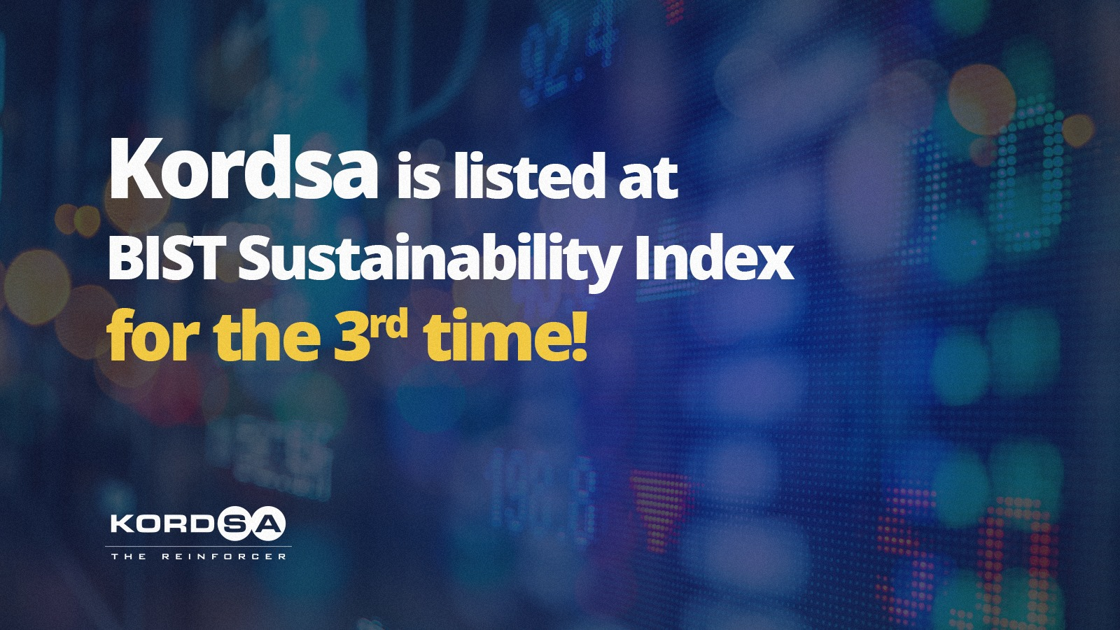 Kordsa is listed in BIST Sustainability Index for the third consecutive year with improved rankings