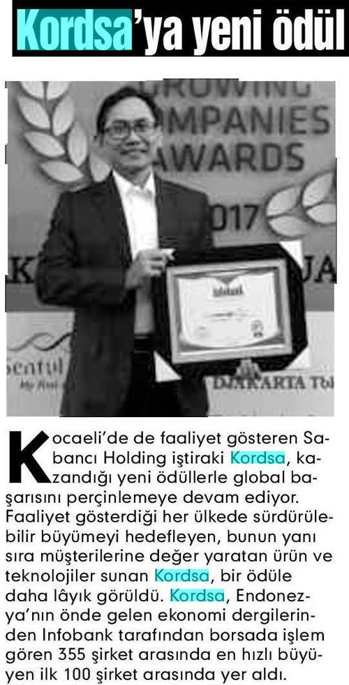 New award to Kordsa
