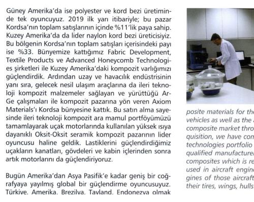 An interview with Kordsa CEO Ali Çalışkan