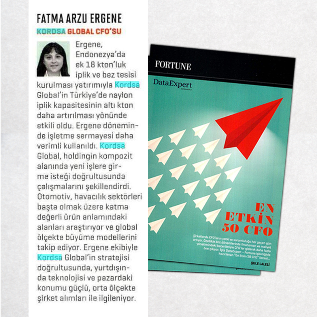 Arzu Ergene is among the 50 Most Influential CFOs of Turkey