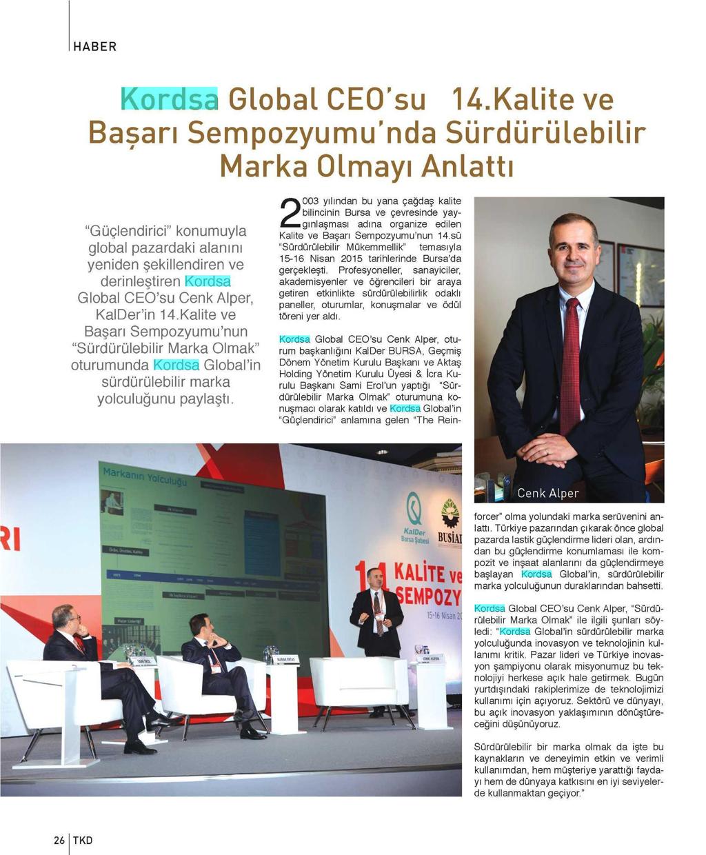The CEO of Kordsa Explains