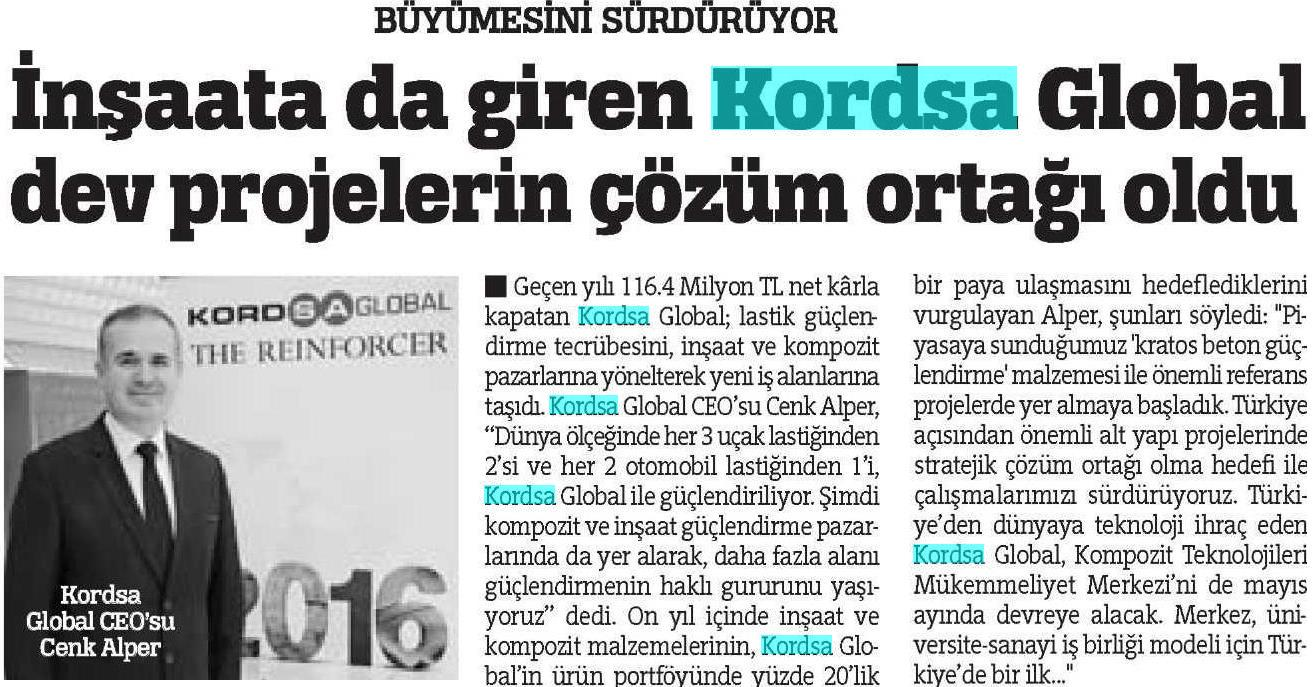 Kordsa became the solution partner of giant construction projects