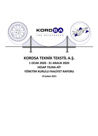 1 OCAK - 31 ARALIK 2020 HESAP