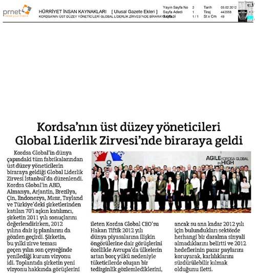 Kordsa'nın üst düzey yöneticileri Global Liderlik Zirvesi'nde biraraya geldi