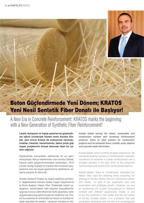 Beton Güçlendirmede Yeni Dönem; KraTos TM Yeni Nesil Sentetik Fiber Donatı ile Başlıyor!