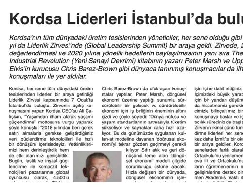 Kordsa Liderleri İstanbul'da Buluştu