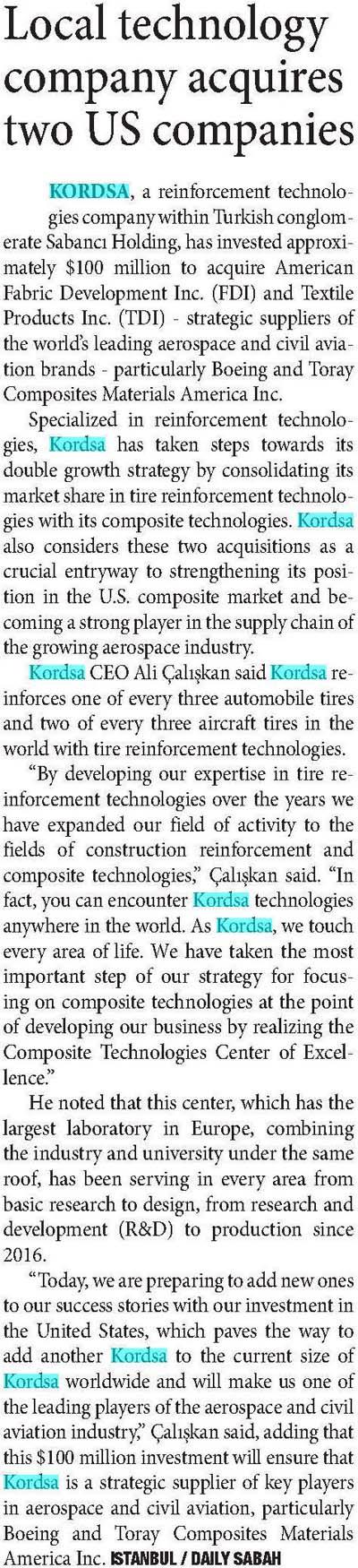 Türk teknoloji firması Amerika'da iki şirket satın aldı
