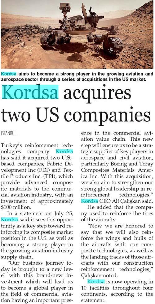Türk firması gözünü Amerika'da büyümeye dikti