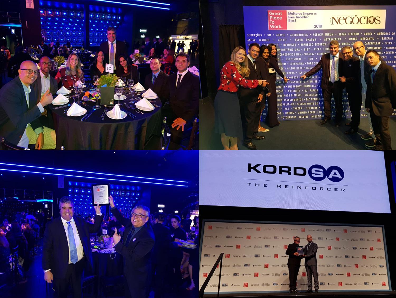 Kordsa, global ödüllerine yenilerini ekledi Kordsa Brezilya'da üst üste üçüncü yıl en iyi işverenler arasında
