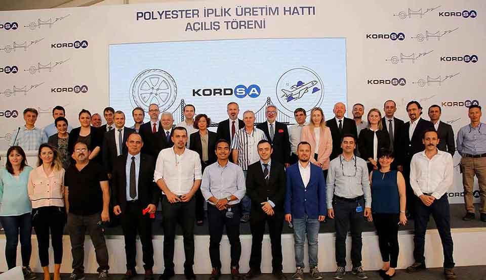 Kordsa, 100 milyon TL yatırım ile   İzmit fabrikasındaki  ek polyester iplik hattını devreye aldı