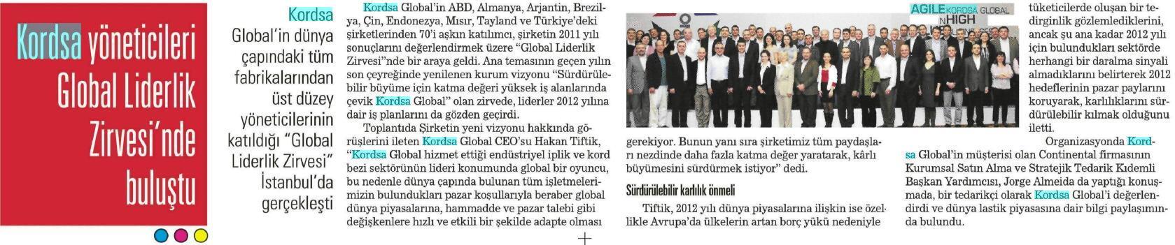 Kordsa yöneticileri Global Liderlik Zirvesi'nde buluştu