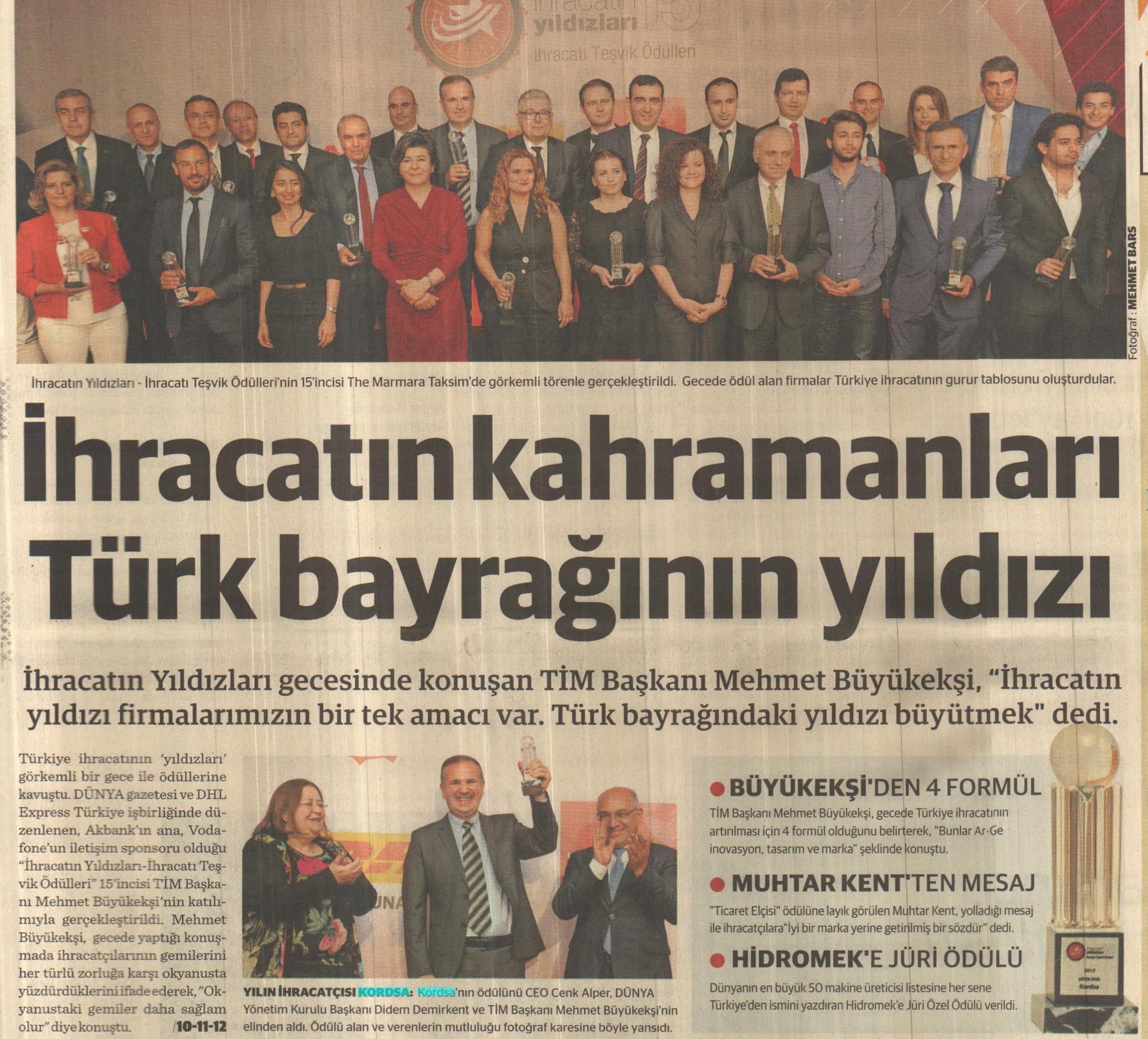 İhracatın Kahramanları Türk Bayrağının Yıldızı