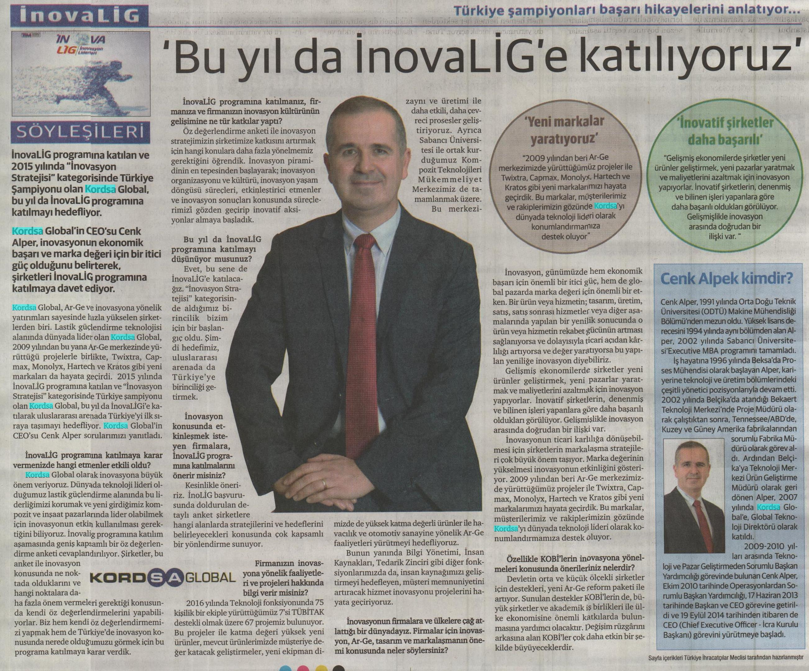 InovaLig Cenk Alper Röportajı